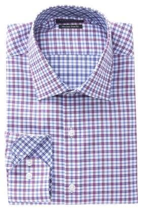 Tailorbyrd Plaid Trim Fit Dress Shirt