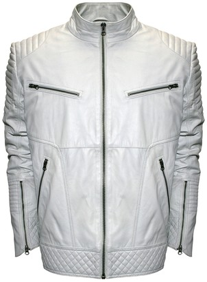 Big & Tall Franchise Club Raw X Quilted Lambskin Leather Moto Jacket