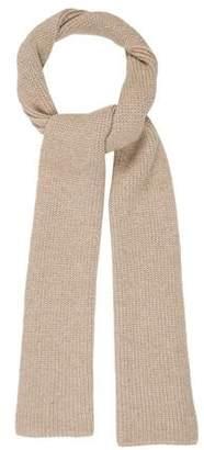 Maison Margiela Solid Rib Knit Scarf