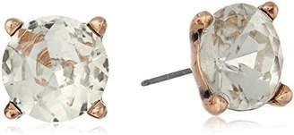 Badgley Mischka Round Crystal Stone Stud Earrings