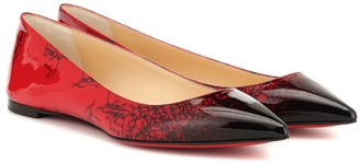 Christian Louboutin Exclusive to Mytheresa Ballalla patent leather ballet flats