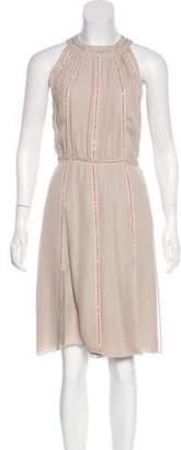 L'Agence Embellished Silk Dress