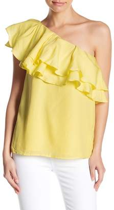 Do & Be Do + Be One Shoulder Tiered Ruffle Blouse