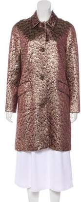 Peter Som Long Sleeve Brocade Coat