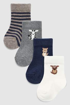 Next Boys Navy Character Socks Four Pack (Younger)