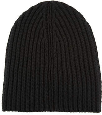 Loro Piana Men's Cashmere Rib-Knit Beanie