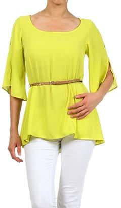 April Lime Green Blouse