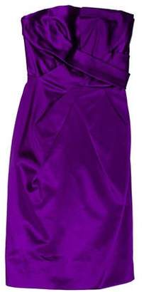 Philosophy di Alberta Ferretti Strapless Silk Mini Dress