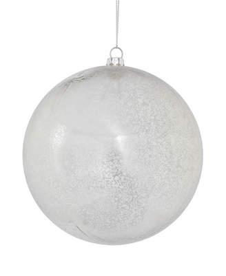 """Vickerman 4.75"""" Silver Shiny Mercury Ball Christmas Ornament, 4 Per Bag"""