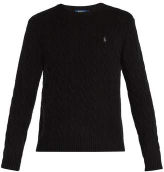 Polo Ralph Lauren Wool Blend Cable Knit Sweater - Mens - Black