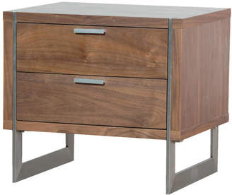 51ff872b4b2c Out There Interiors Two Drawer Walnut Retro Bedside