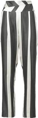 Michelle Mason striped print trousers