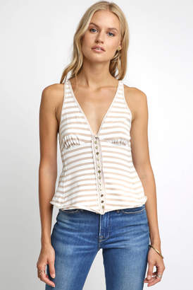 Free People Mylo Striped V Neck Halter Top