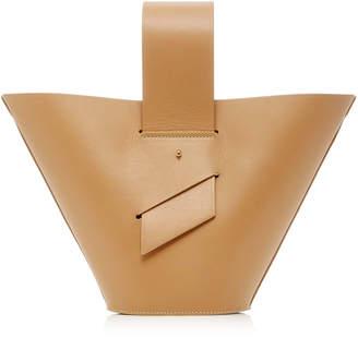 Carolina Santo Domingo Amphora Leather Top Handle Bag