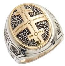 Konstantino Large Stavros Cross Signet Ring