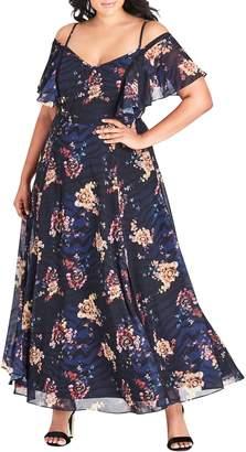 City Chic Desert Floral Maxi Dress