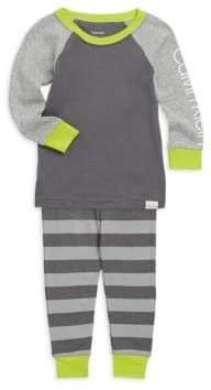 Calvin Klein Little Boy's & Boy's Two-Piece Logo Cotton Pajama Set