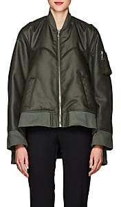 Helmut Lang Women's Tech-Canvas Four-Sleeve Bomber Jacket - Green