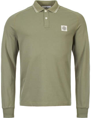 Stone Island Long Sleeve Polo - Green