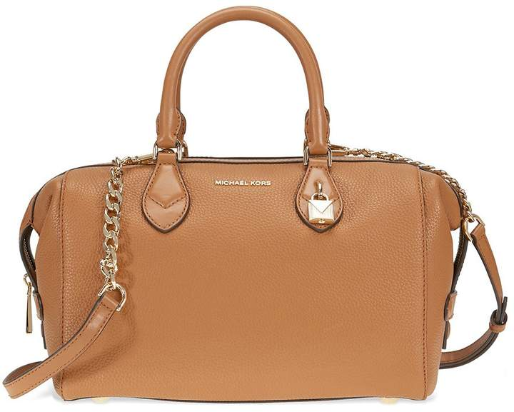 Michael Kors Grayson Large Convertible Pebbled Leather Satchel - Acorn - ONE COLOR - STYLE