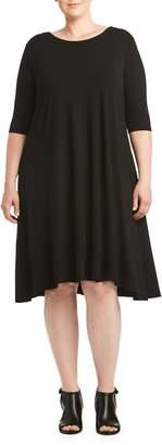 Toni T by Toni Plus Crisscross Back A-Line Dress