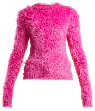 Balenciaga Fluffy Sweater - Womens - Pink