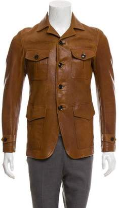 Tom Ford Button-Up Leather Jacket