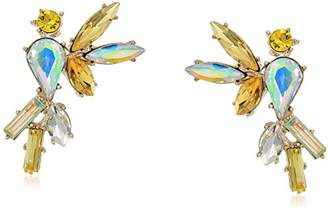 Betsey Johnson Critters Bright Cockatoo Stud Earrings