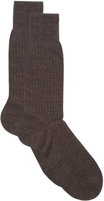 Harrods Ribbed Cotton Lisle Socks