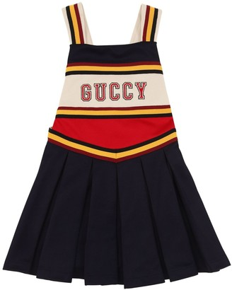 Gucci PLEATED COTTON BLEND DRESS