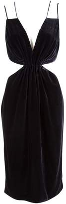 Cushnie Navy Velvet Dresses