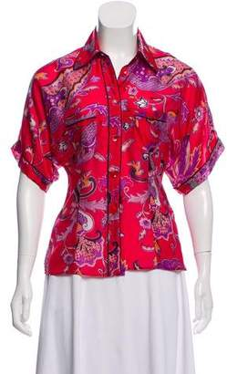 Etro Printed Satin Top