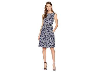 Anne Klein Fit Flare Dress with Sash