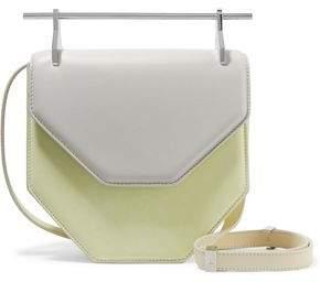 M2Malletier Amor Fati Two-Tone Leather Shoulder Bag