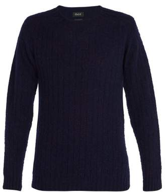 Howlin' - Lost Spirit Ribbed Knit Wool Sweater - Mens - Navy