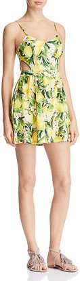 Show Me Your MuMu Piper Lemon Floral Print Cutout Dress $146 thestylecure.com
