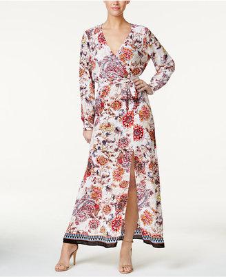 ECI Floral-Print Faux-Wrap Maxi Dress $70 thestylecure.com