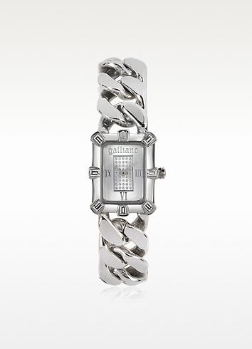 John Galliano Silver-tone Stainless Steel Women's Watch