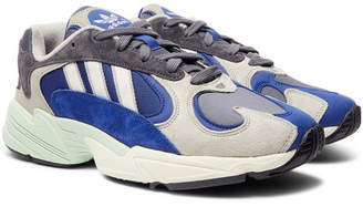 adidas Yung 1 Suede and Mesh Sneakers - Men - Gray