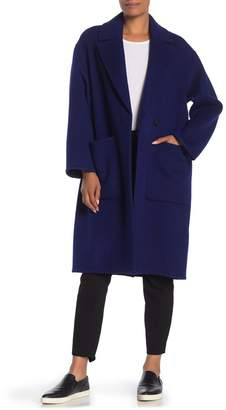 Vince Patch Pocket Wool Blend Car Coat