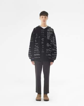 3.1 Phillip Lim Hooded Sweater Receipt Print