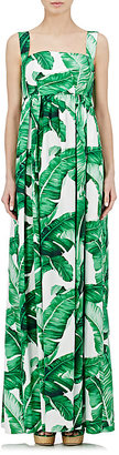 Dolce & Gabbana Women's Foliage-Print Empire-Waist Dress $2,575 thestylecure.com