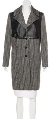 Magda Butrym Wool Leather-Accented Coat
