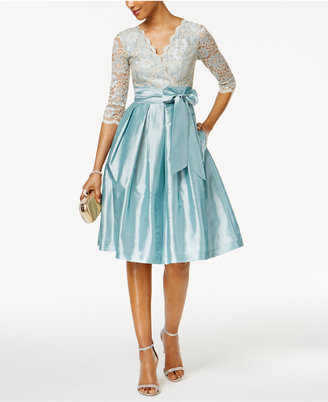 Jessica Howard Lace Taffeta Fit & Flare Dress $139 thestylecure.com