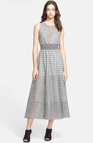 Theory 'Darro' Sheer Virgin Wool & Silk Dress