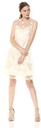 Taylor Dresses Women's Embroidered Mesh 3D Flower Cocktail Dress