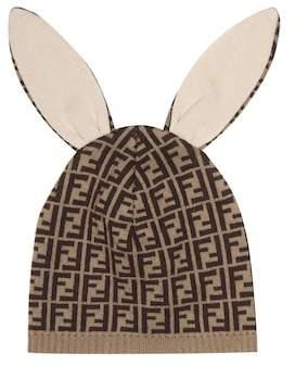 Fendi Cotton and cashmere-blend hat