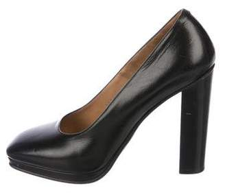 Dries Van Noten Leather Square-Toe Pumps