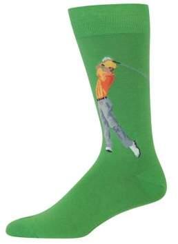 Hot Sox Golfer Graphic Socks