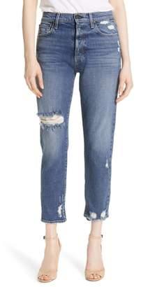 Alice + Olivia AO.LA Amazing Ripped Slim Girlfriend Jeans